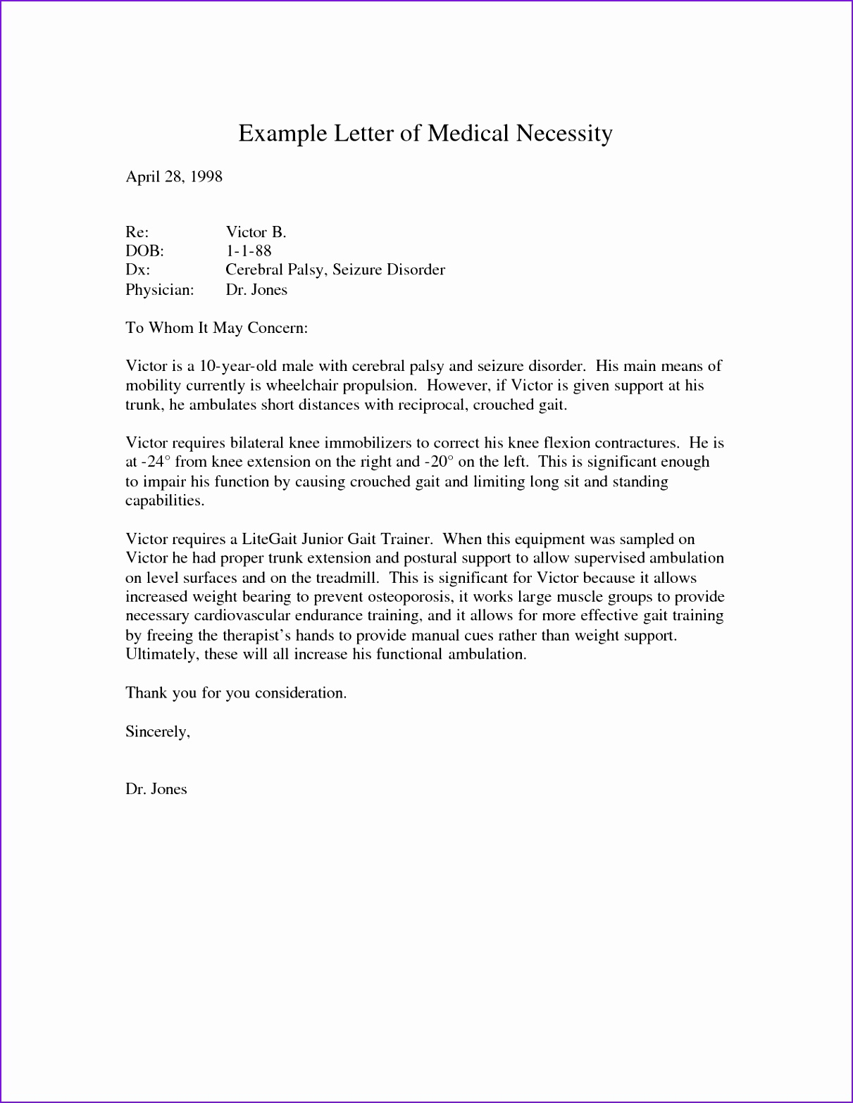 Medical Necessity Appeal Letter Template - 10 Appeal Letter for Medical Necessity