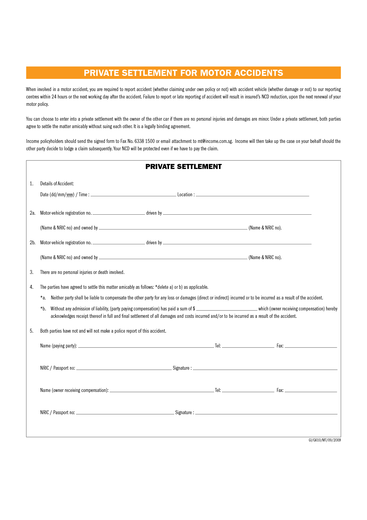 Full and Final Settlement Letter Template Car Accident - 10 Settlement Agreement Settlement form Auto Content