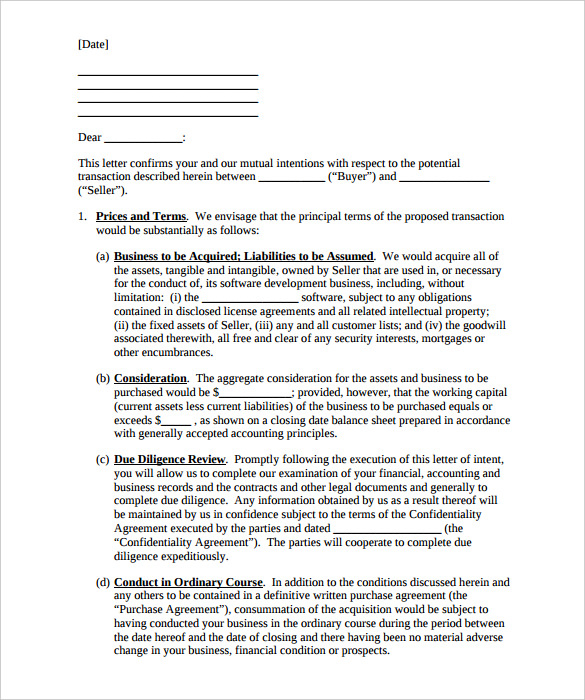Letter Of Intent to Purchase Equipment Template - 14 Purchase Letter Intent Templates Doc Pdf