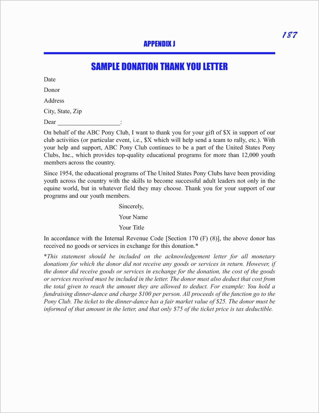 Donor Acknowledgement Letter Template - 15 Best Charitable Donation Letter Template