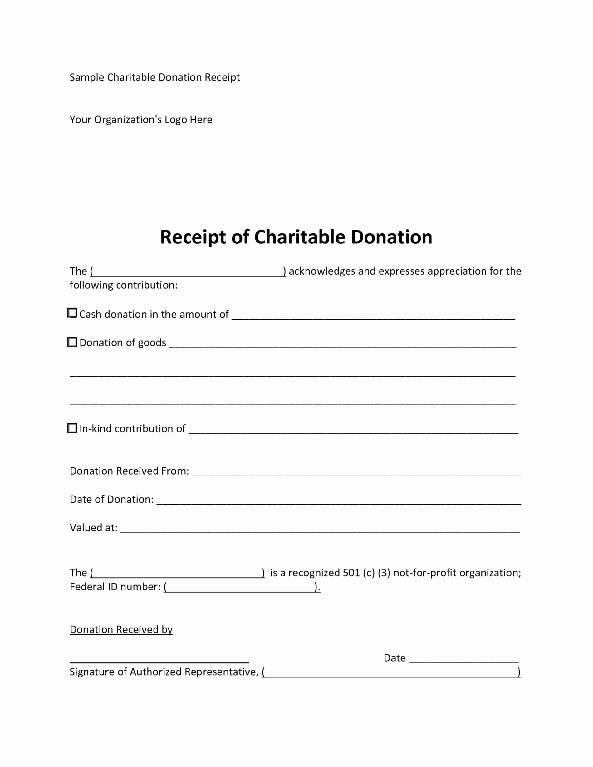 charitable donation receipt letter template examples letter