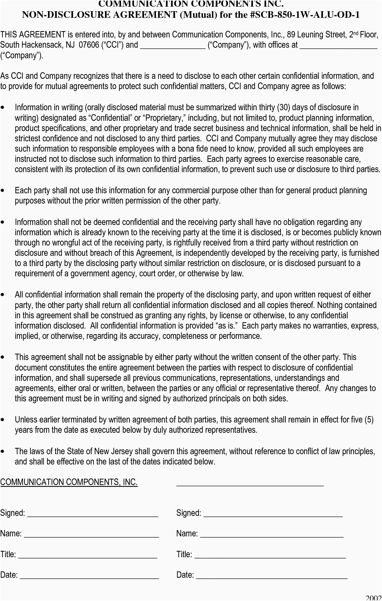 Disclosure Letter Template - 16 Best Non Disclosure Agreement Template Word
