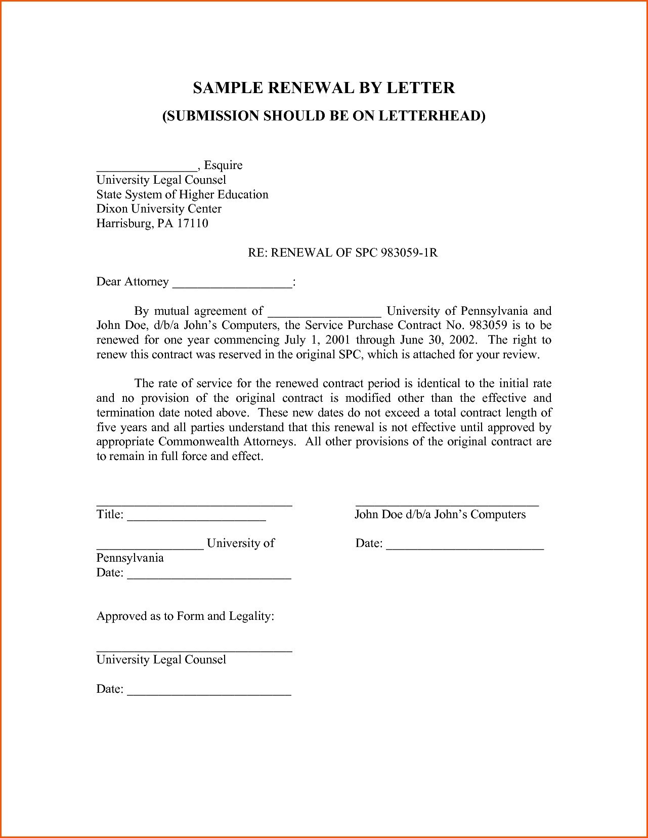 Service Contract Renewal Letter Template - 16 Elegant Employment Contract Renewal Letter Sample Doc