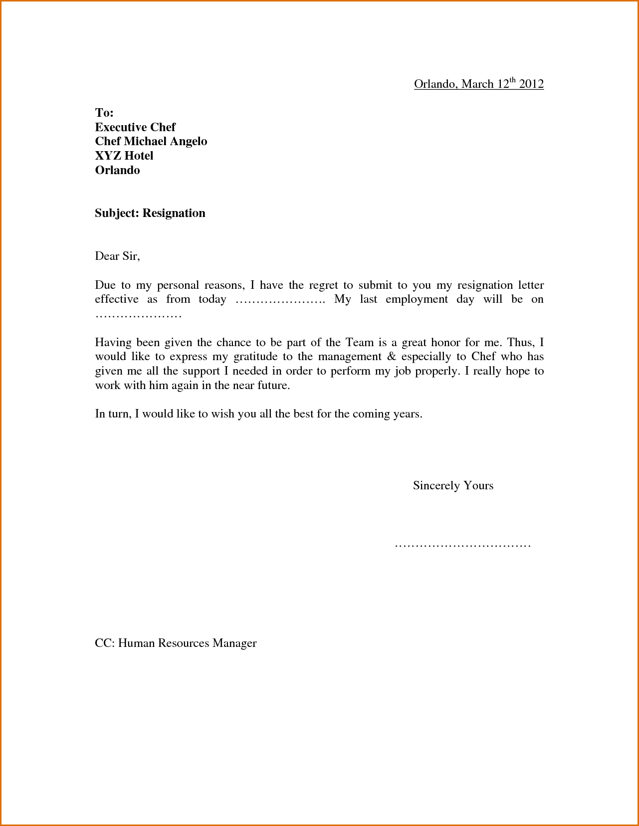 Letter Of Resignation Teacher Template - 1650 · 53 Kb · Png Sample Resignation Letter Due to Personal Reason