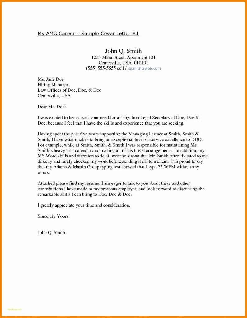 Cover Letter Template Australia - 18 Inspirational Sample Cover Letter for A Resume
