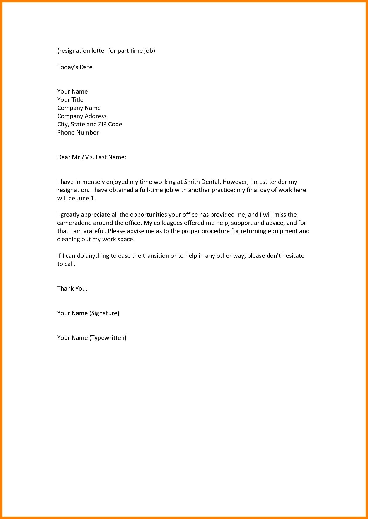 Work Resignation Letter Template - 18 Resignation Letter Template Uk Primary Resignation Letter