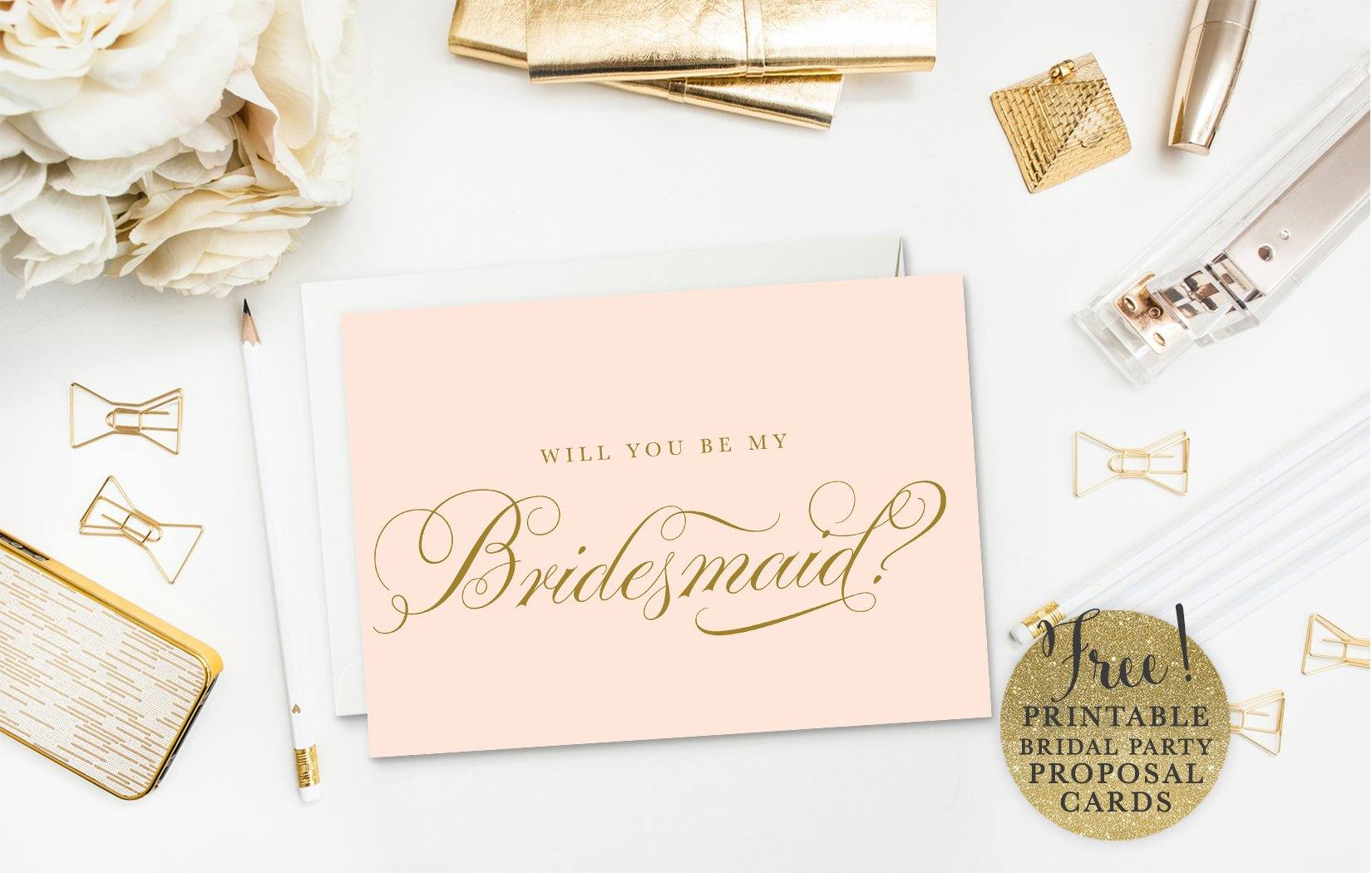 Will You Be My Bridesmaid Letter Template - 19 Free Printable Will You Be My Bridesmaid Cards