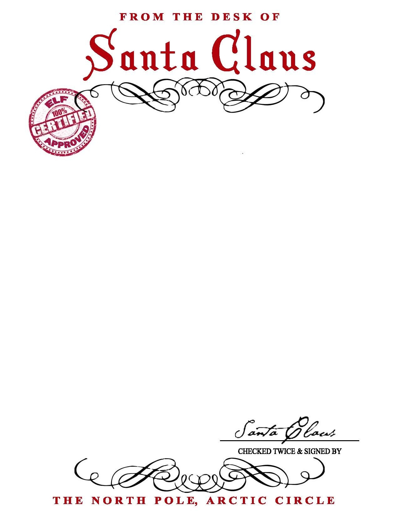 Official Letter From Santa Template - 19 Fresh Template Letter From Santa to Child Graphics