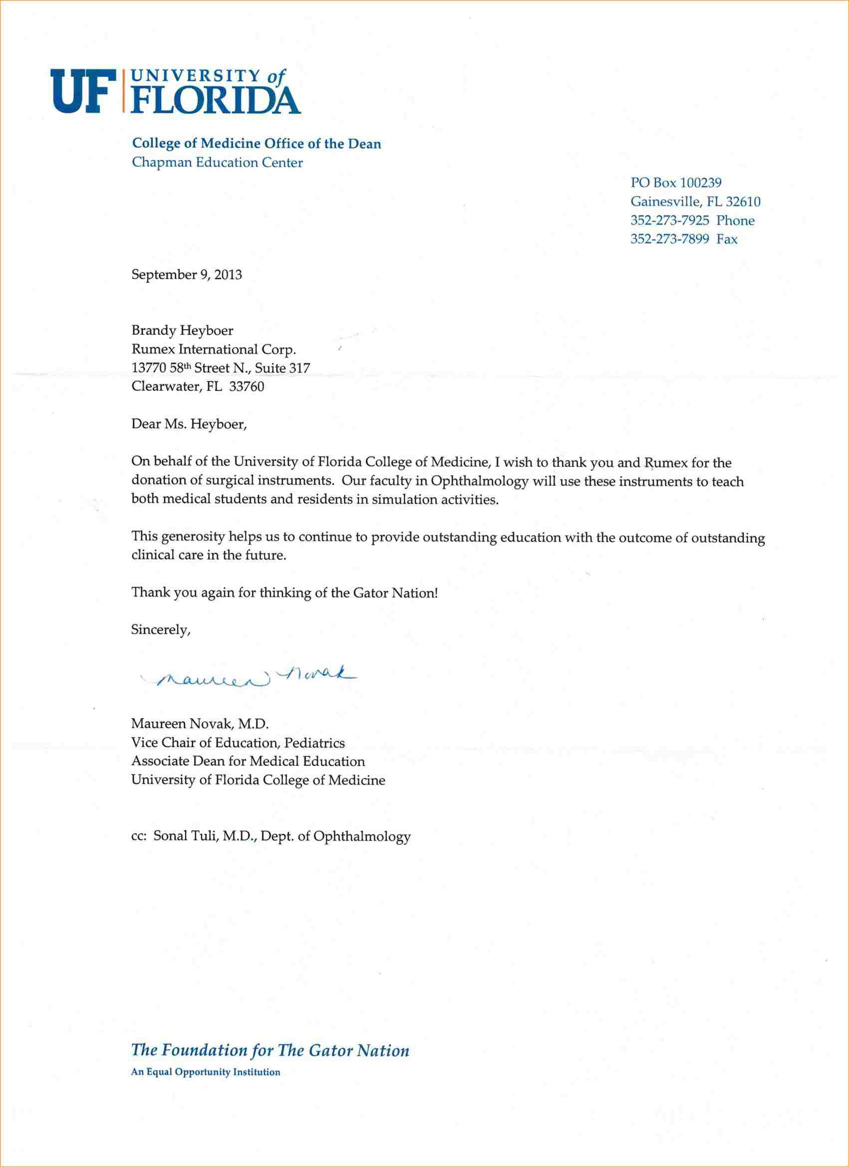 Non Profit Donation Thank You Letter Template - 19 Luxury Sample Donor Thank You Letter