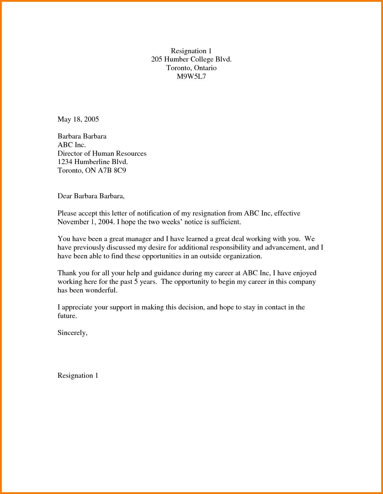 Work Resignation Letter Template - 2 Week Notice Letter Template Best Leaving Job Notice Letter