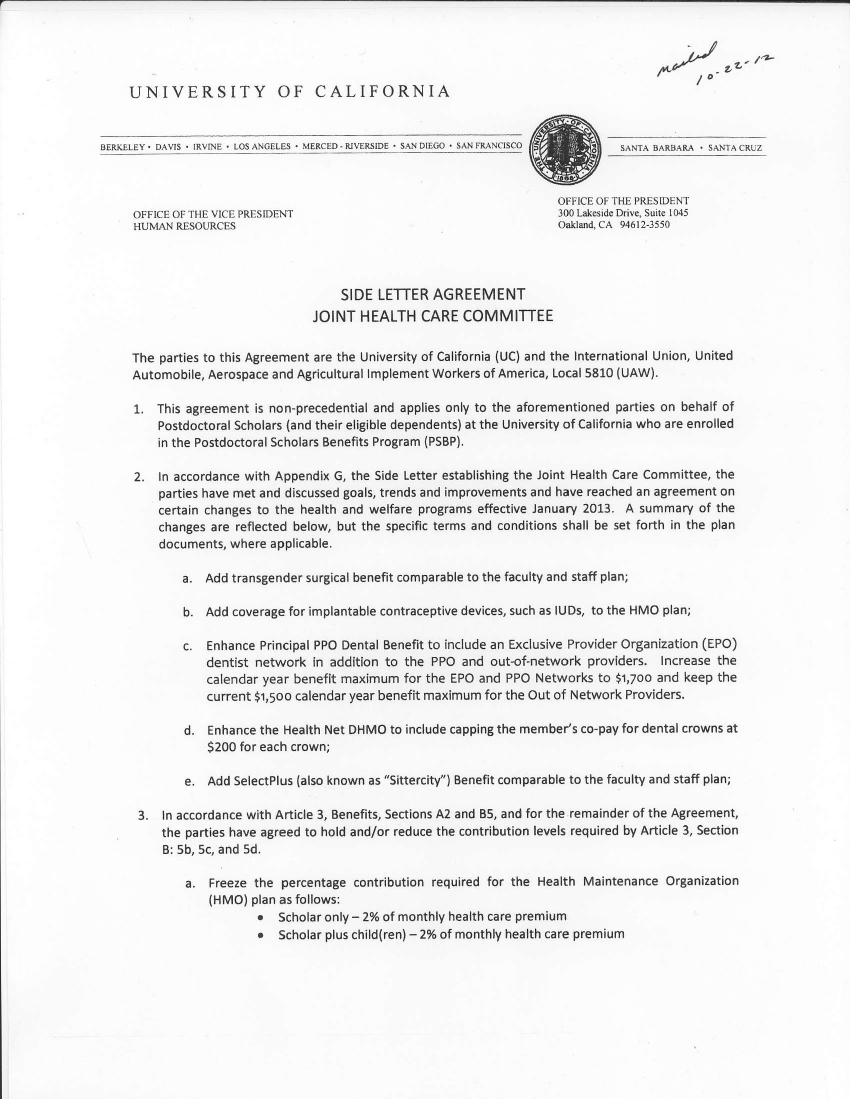 Side Letter Agreement Template 20 Best Example
