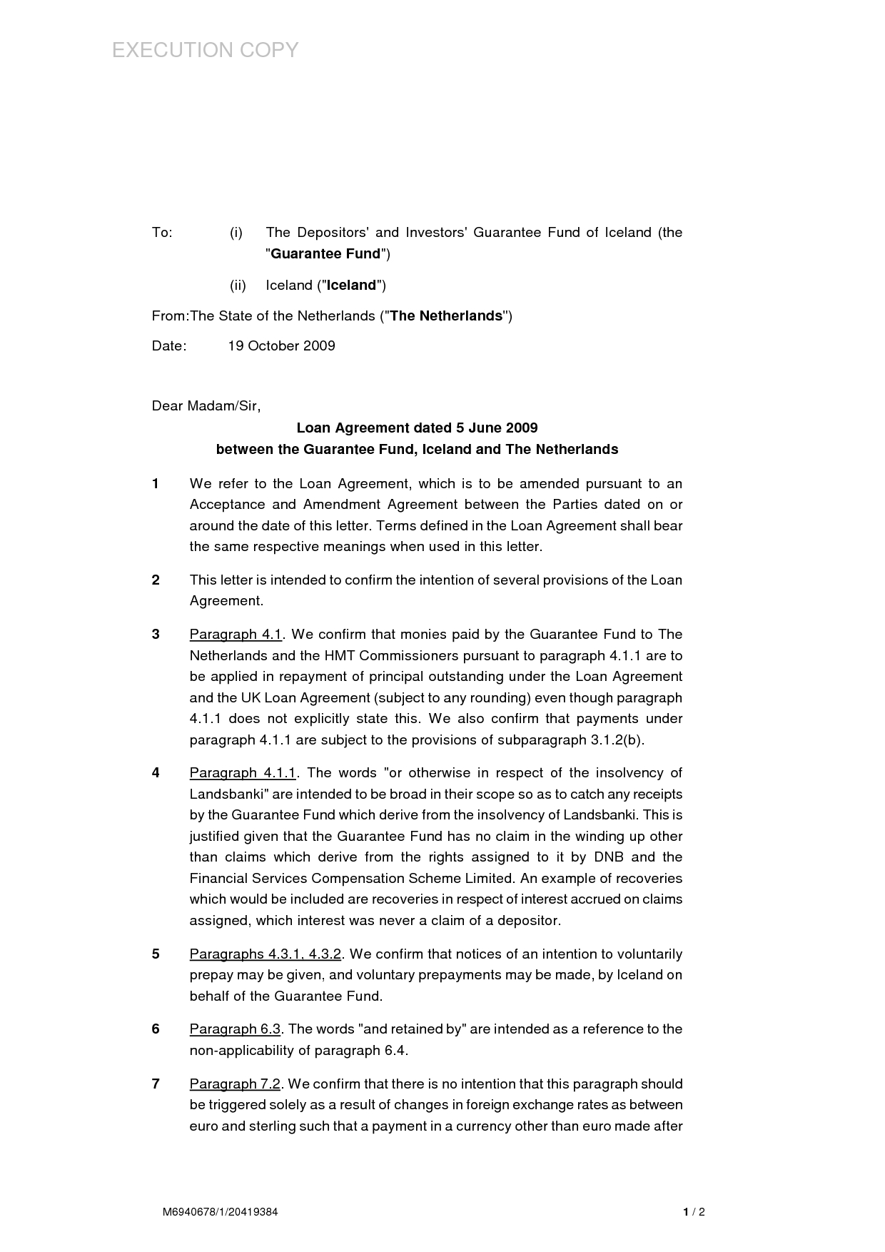 side letter agreement template example-loan agreement letter format personal sample equipment between two 9-q