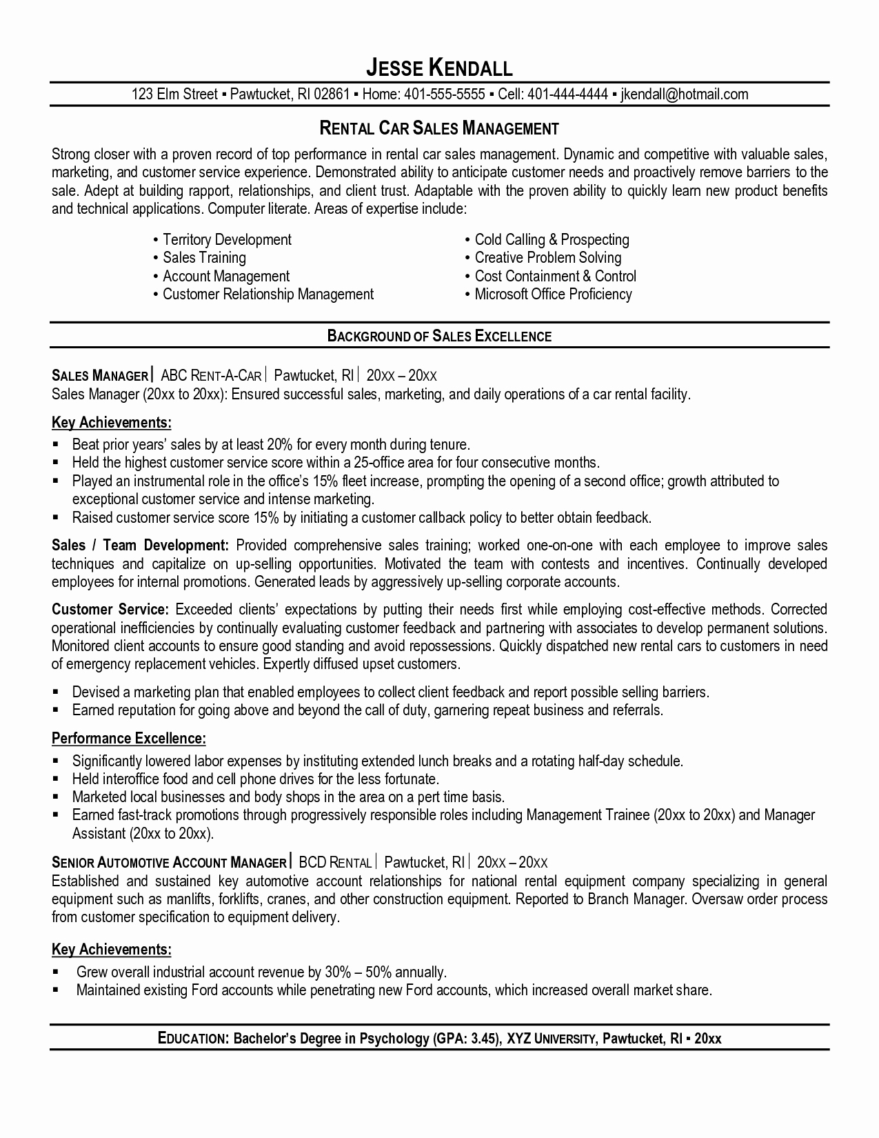 Car Sales Prospecting Letter Template - 20 Car Sales Resume Sample