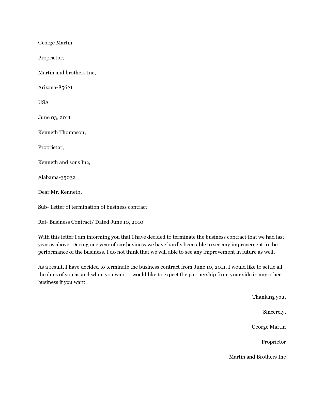 Termination Of Contract Agreement Letter Template - 20 Luxury Termination Service Agreement Letter Sample