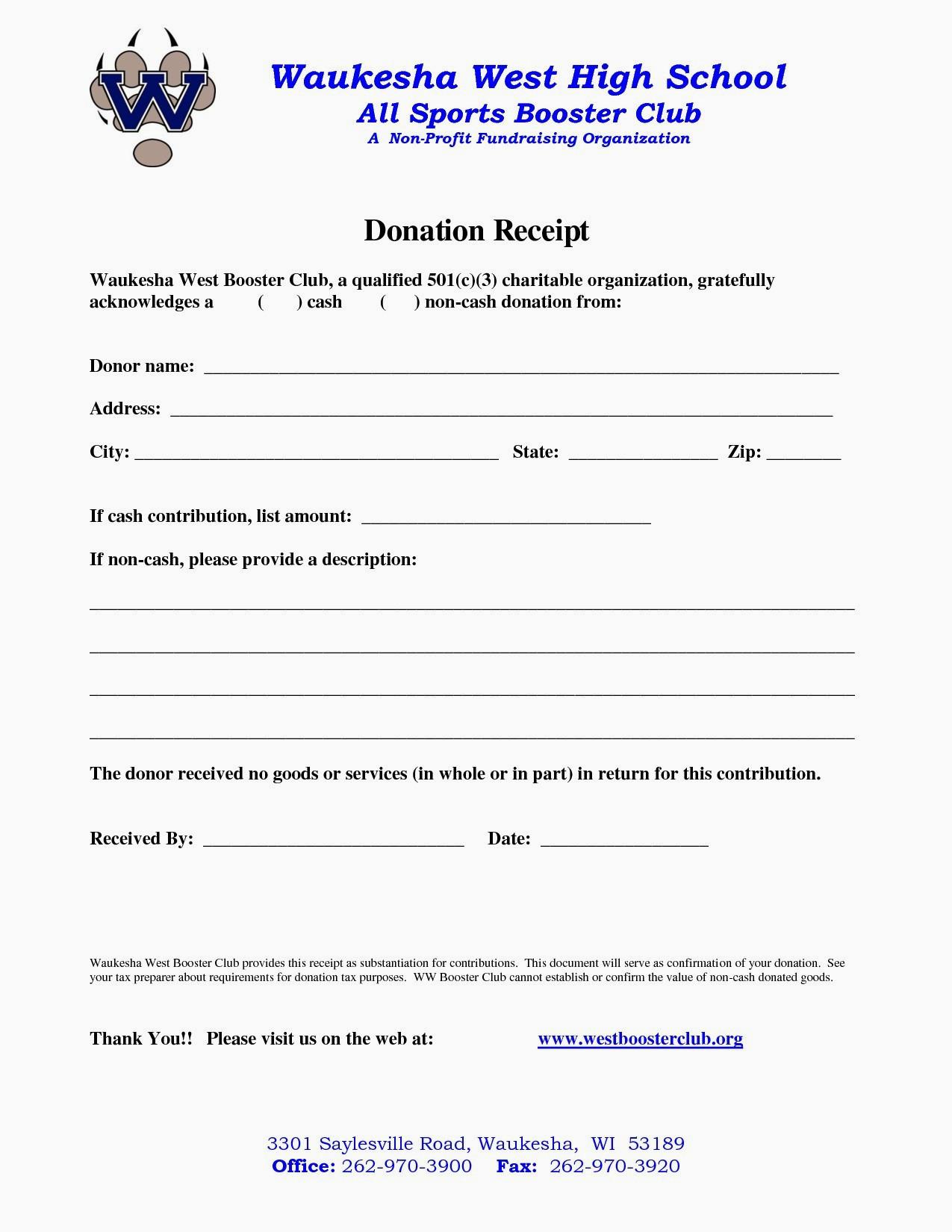 Donation Letter Template for Non Profit organization - 20 New Non Profit Customizable Receipt Template