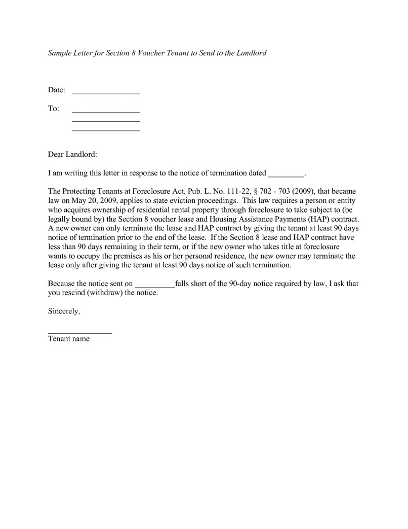 Landlord Notice Letter to Tenant Template - 20 Unique 60 Day Notice Termination Tenancy Template