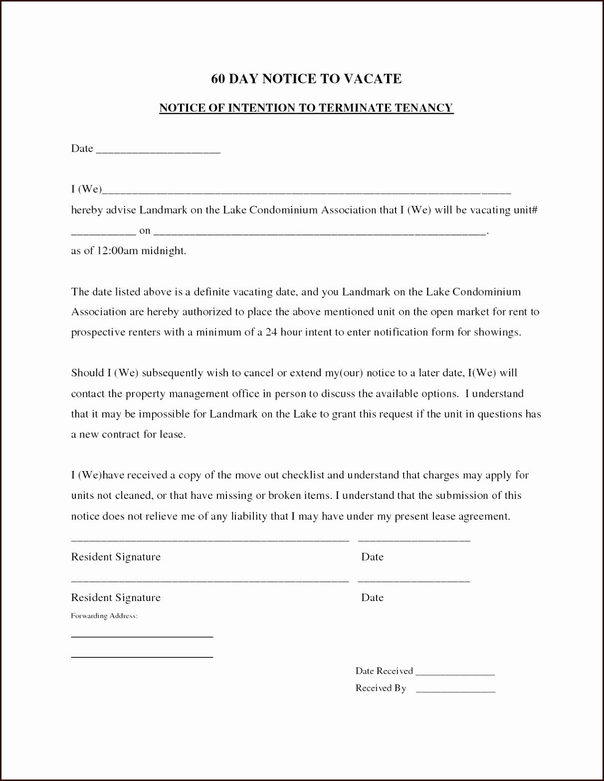 Lodger Eviction Letter Template - 20 Unique Eviction Template