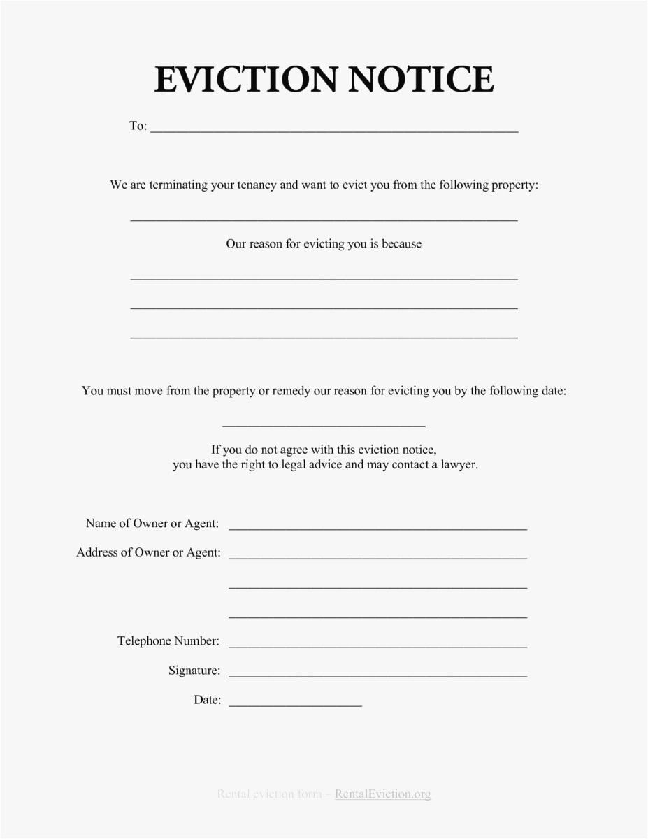 Eviction Warning Letter Template - 21 3 Day Eviction Notice Template Examples