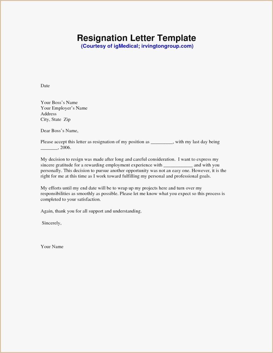 Free Printable Resignation Letter Template - 21 Resignation Letter Template Free format