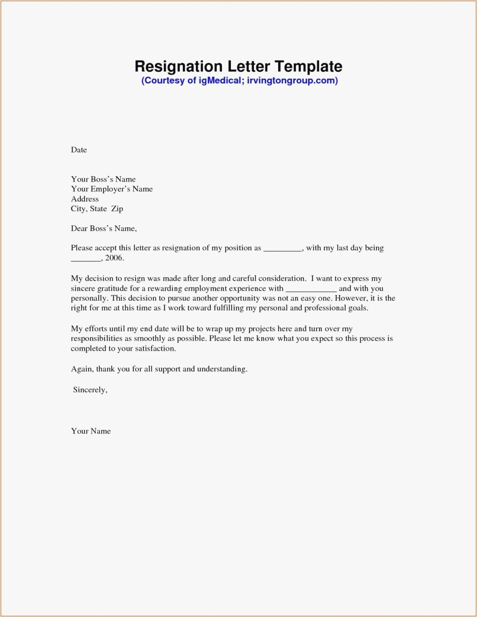Free Resignation Letter Template Microsoft Word Download - 21 Resignation Letter Template Free format