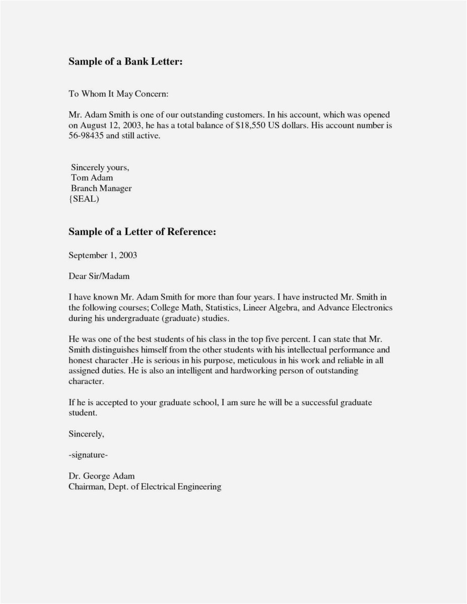 Professional Letter Of Recommendation Template Free - 23 Letter Re Mendation for Graduate School Sample Example