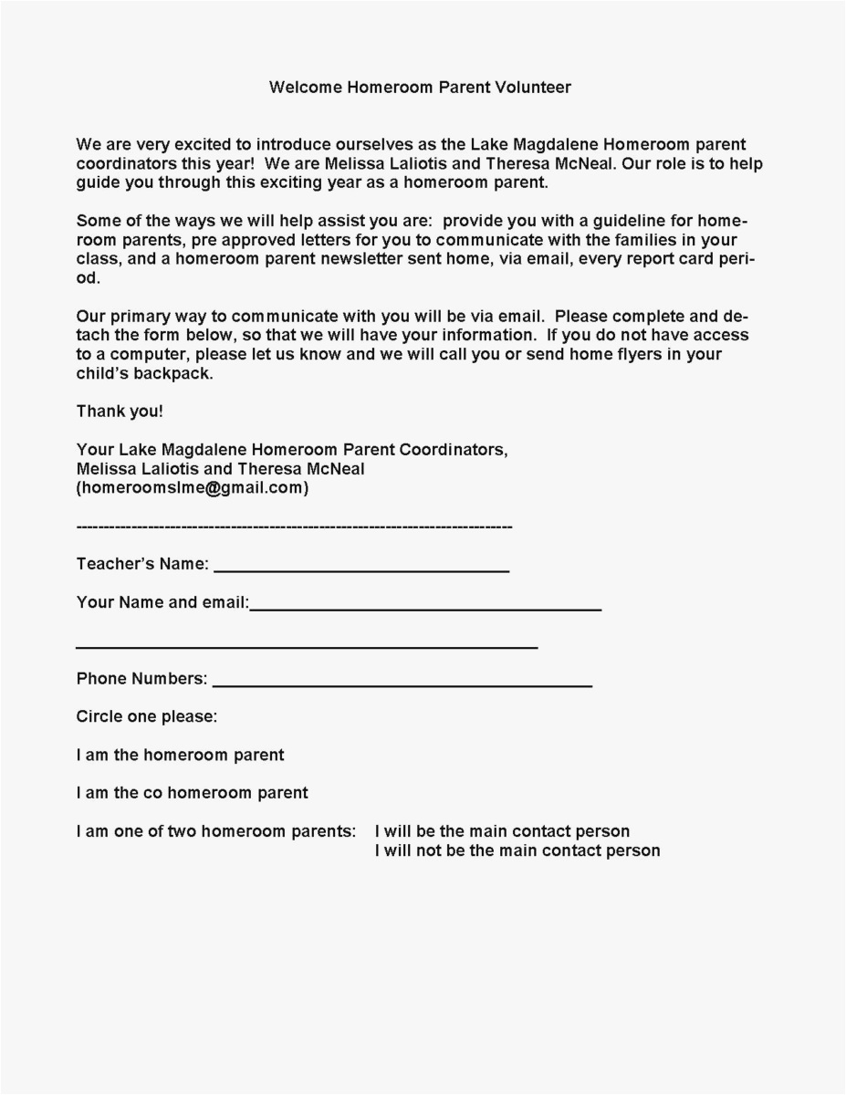 Parent Letter Template - 23 Parent Letter Template format