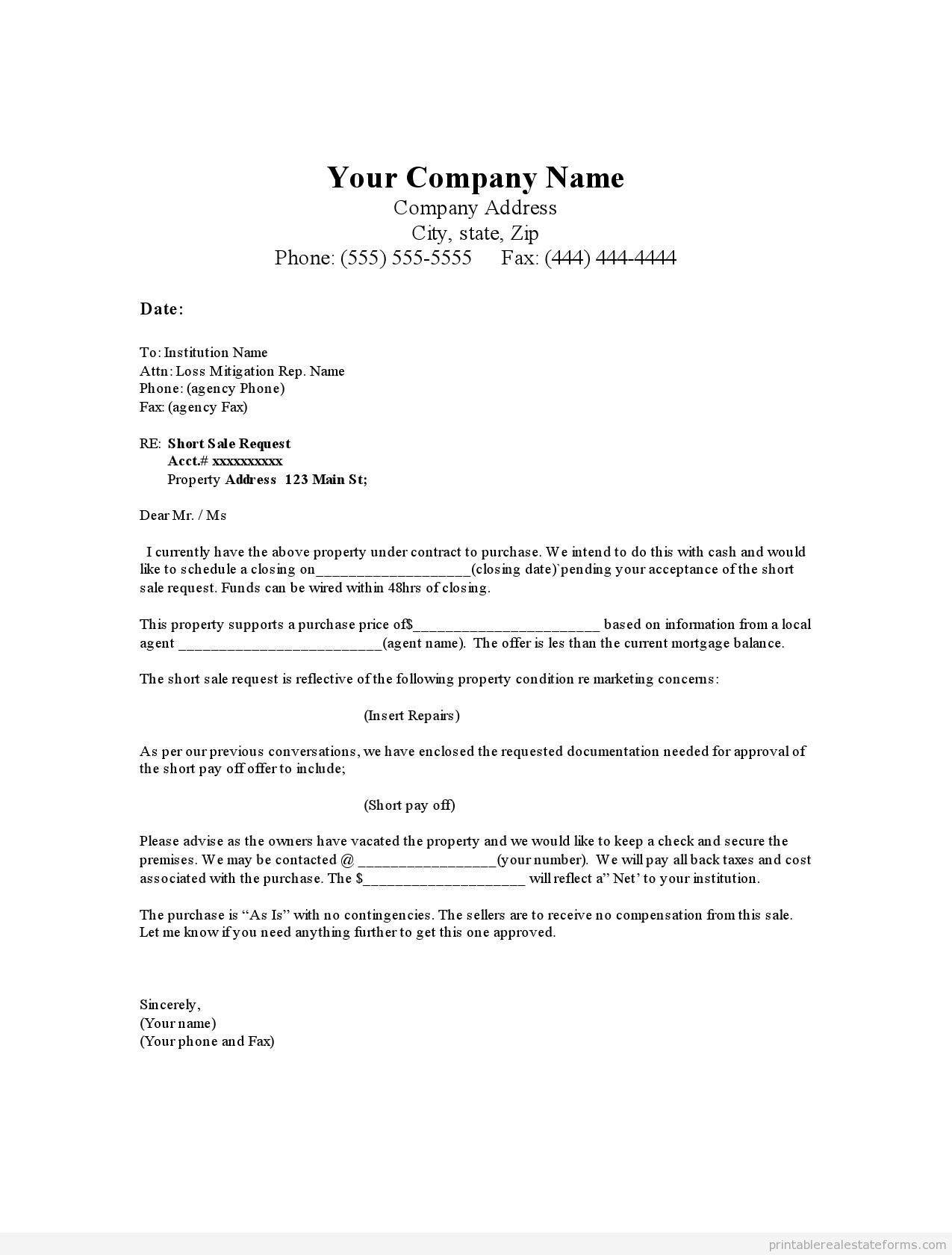 House fer Letter Template Examples