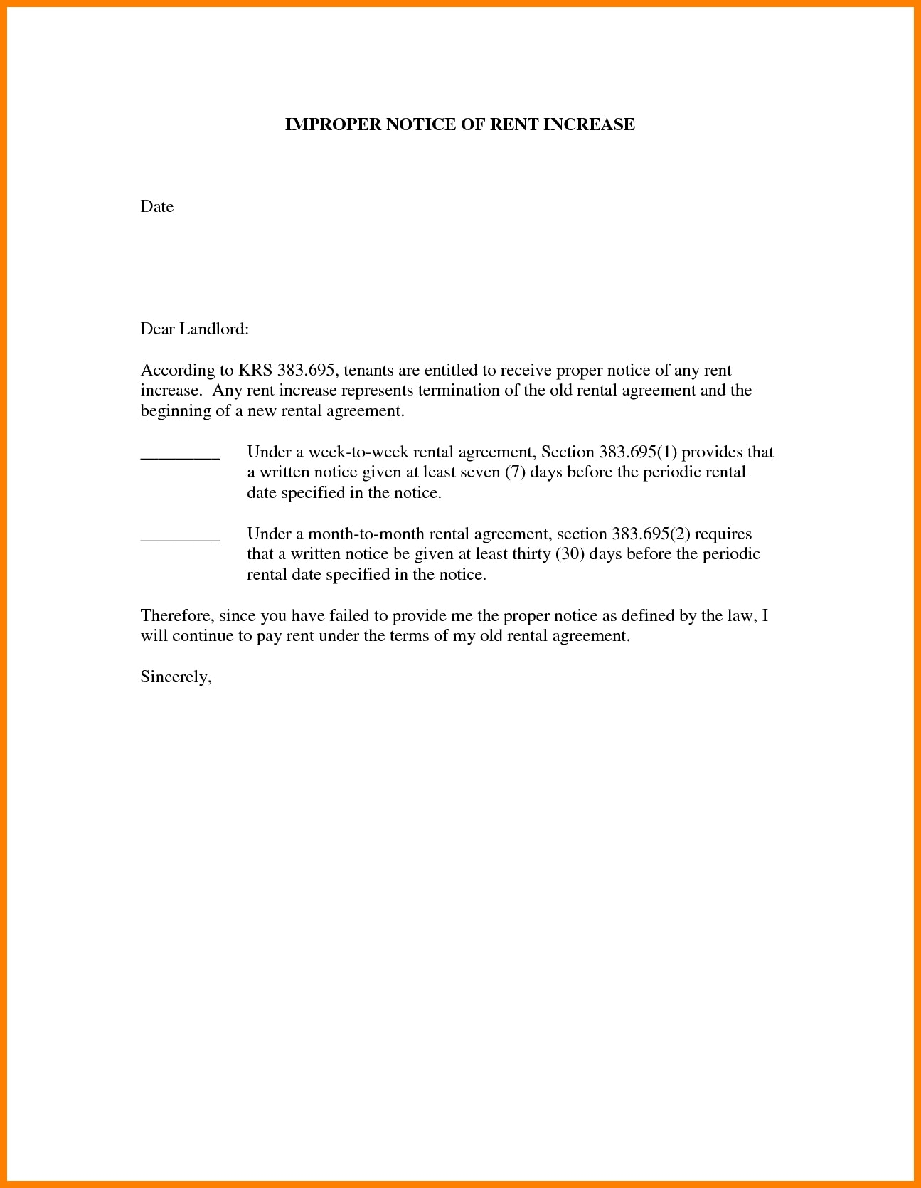 Rent Renewal Letter Template - 24 Fresh Tenancy Agreement Notice Example Pics