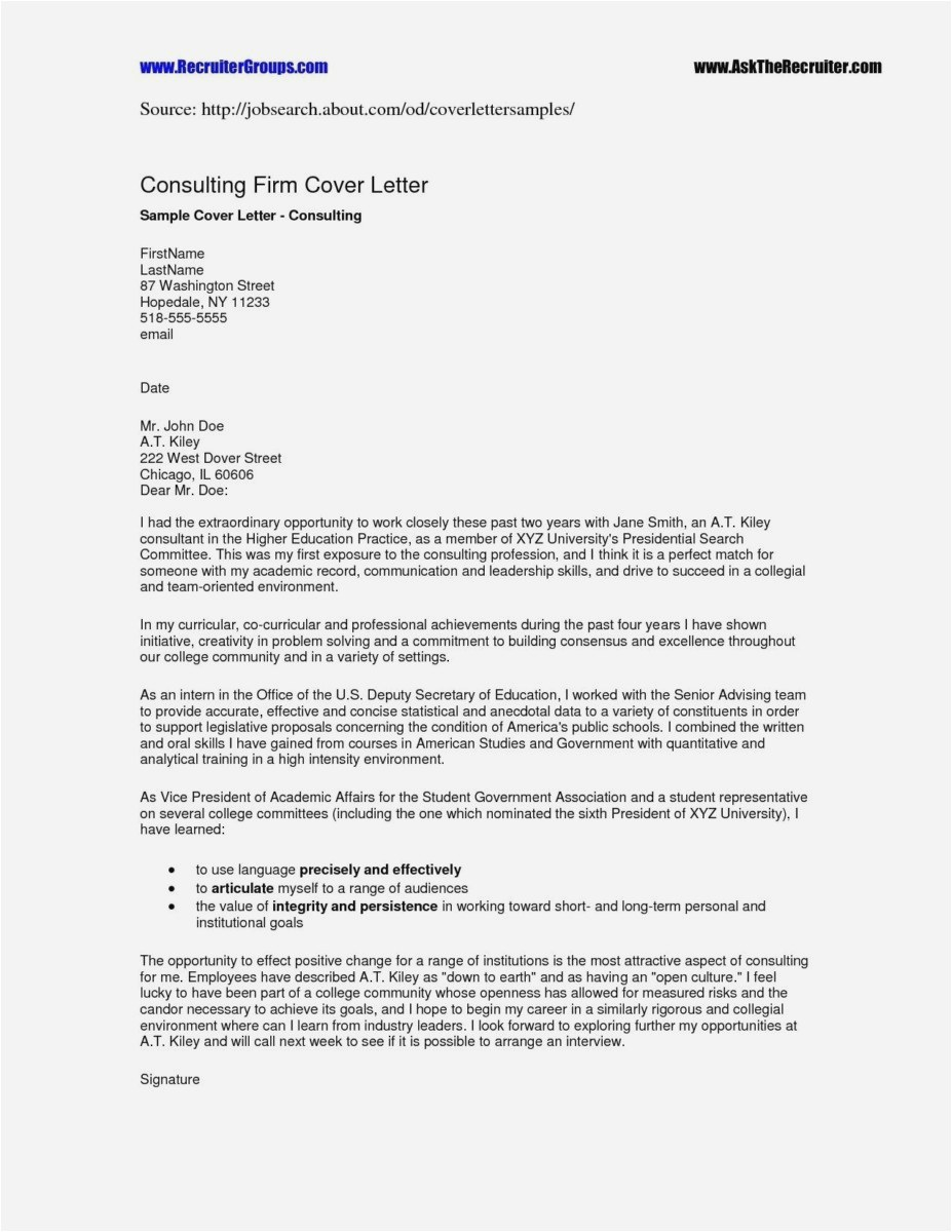 Letter Of Interest for Employment Template - 26 Best Sample Cover Letters for Employment Professional