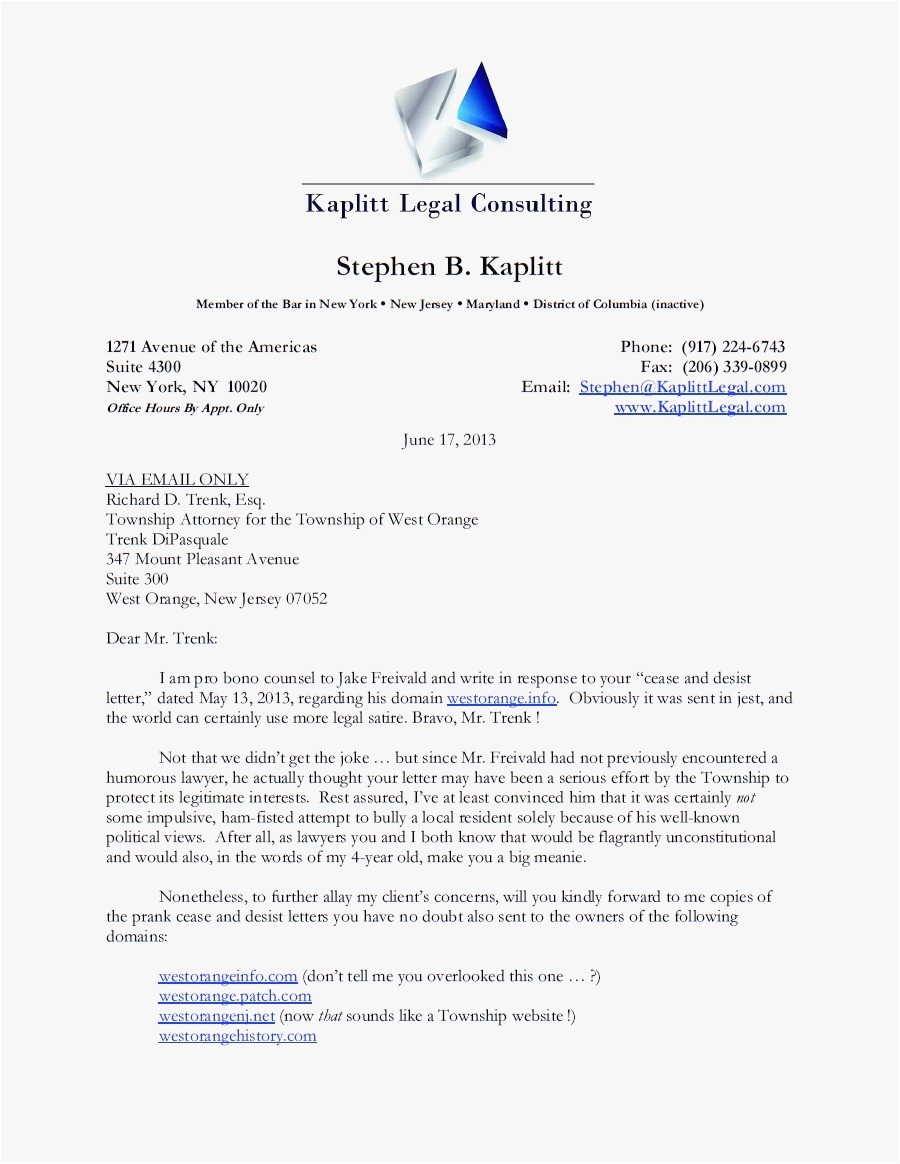 Free Cease and Desist Letter Template for Harassment - 26 Cease and Desist Letter Template Picture