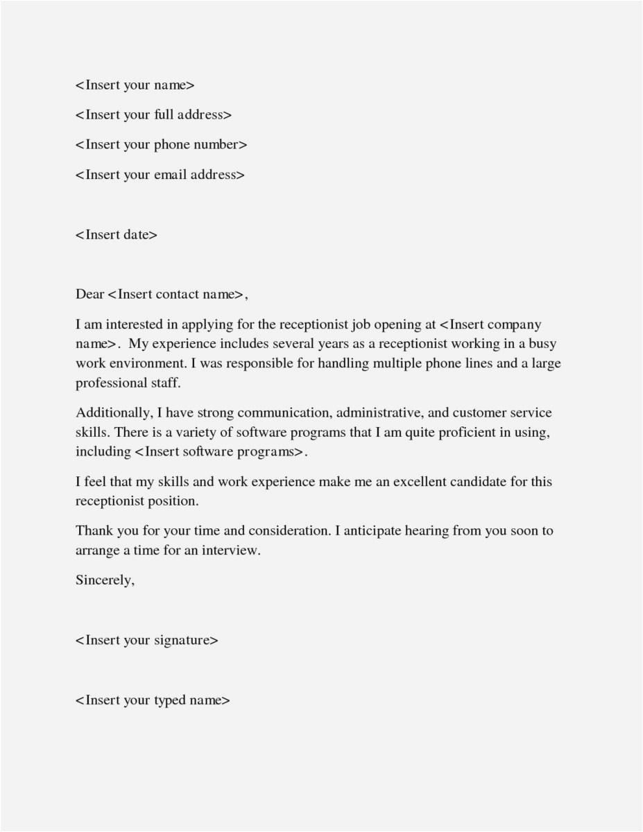 School Secretary Cover Letter Template - 26 Free Employment Cover Letters Picture