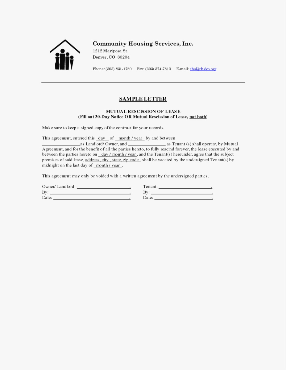 Notice Letter to Tenant From Landlord Template - 27 30 Day Notice to Vacate Template Picture