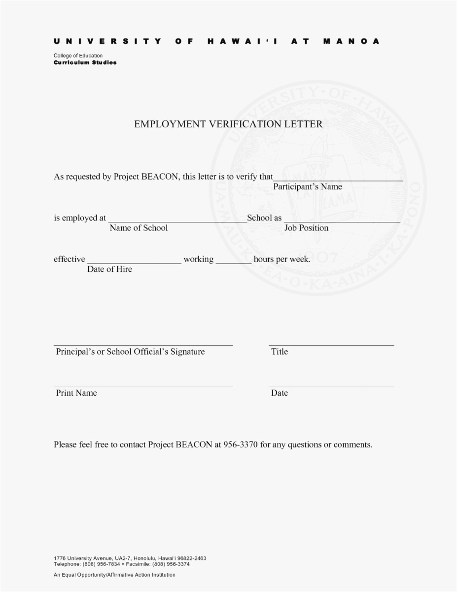 Free Employment Verification Letter Template Download