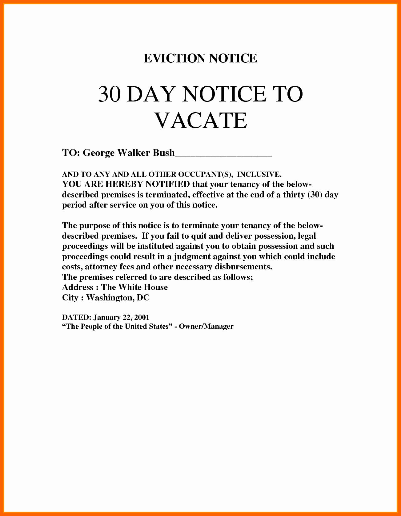 Eviction Letter Template Florida - 3 Day Eviction Notice Florida Template Inspirational Eviction Notice