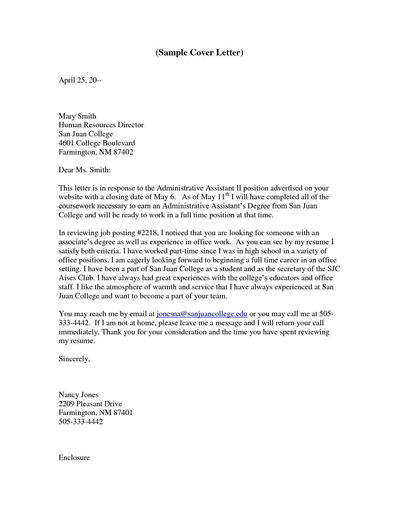 Hvac Cover Letter Template - 30 Lovely Examples Cover Letters for Administrative assistant