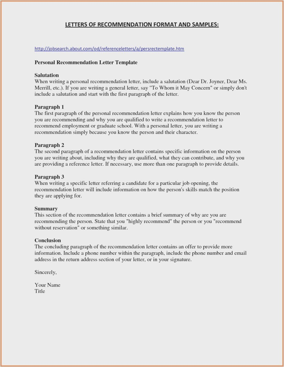 Reference Letter Template for A Friend - 30 New Employment Reference Letter Examples