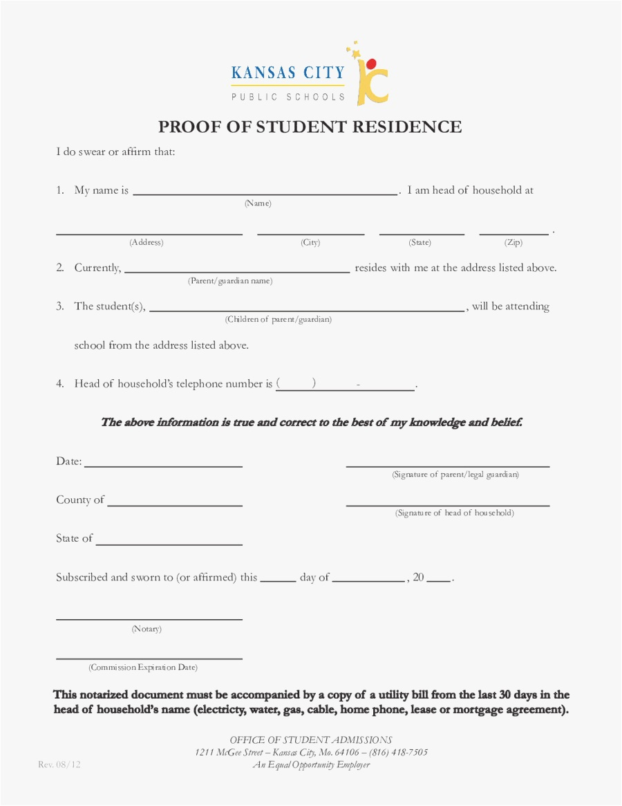 Notarized Letter Template for Residency - 30 Notarized Letter Template Simple