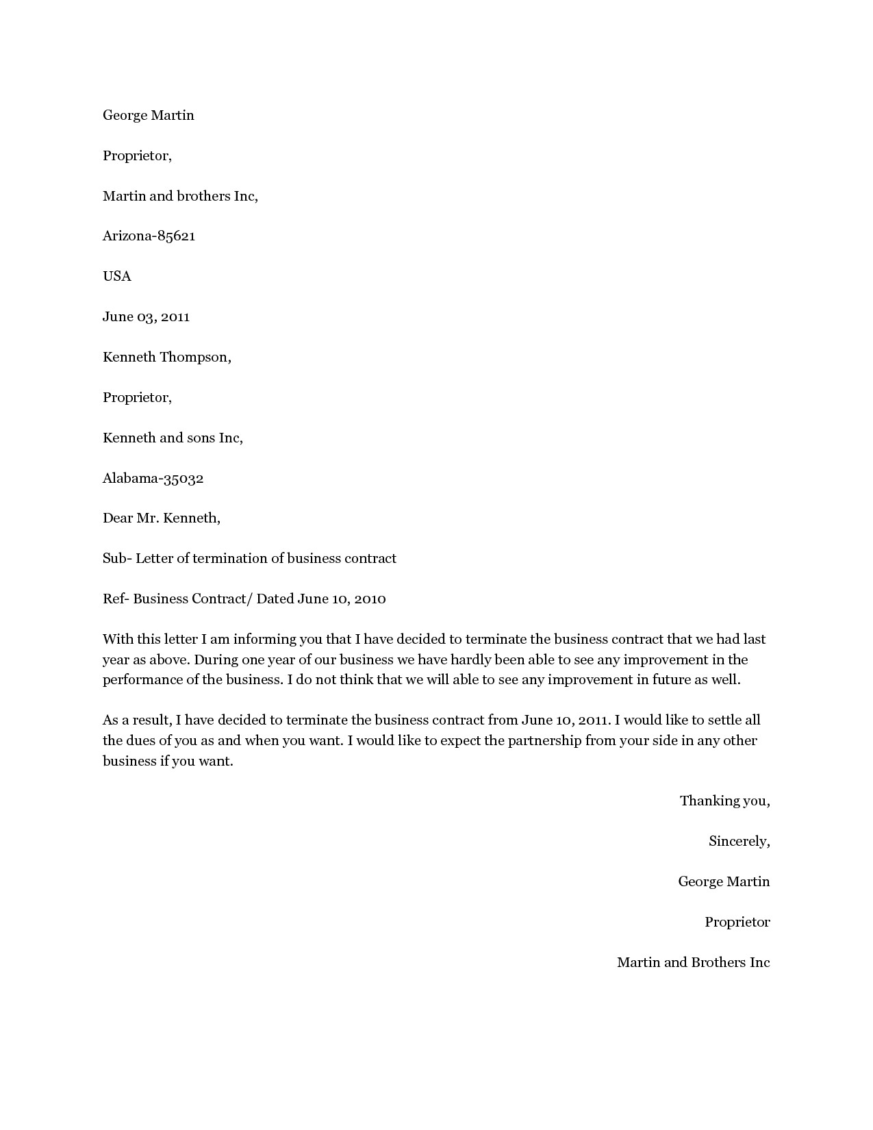 Contract Cancellation Letter Template Free - 33 Lovely Cancellation Letter Sample