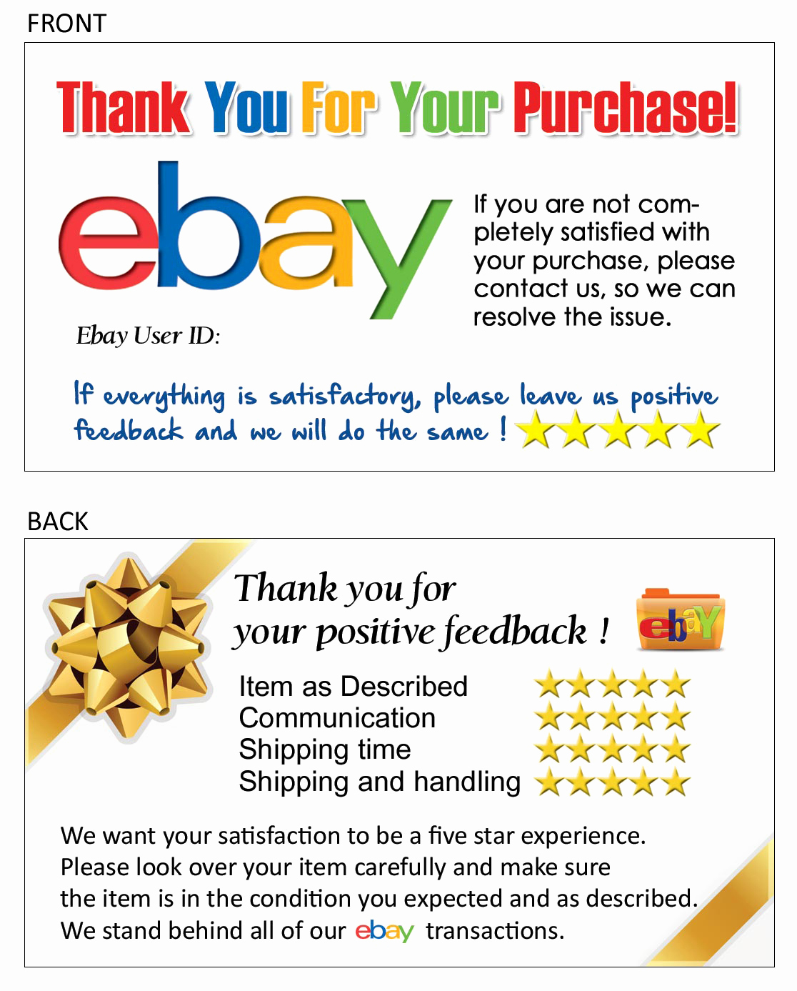 ebay thank you letter template examples letter template collection