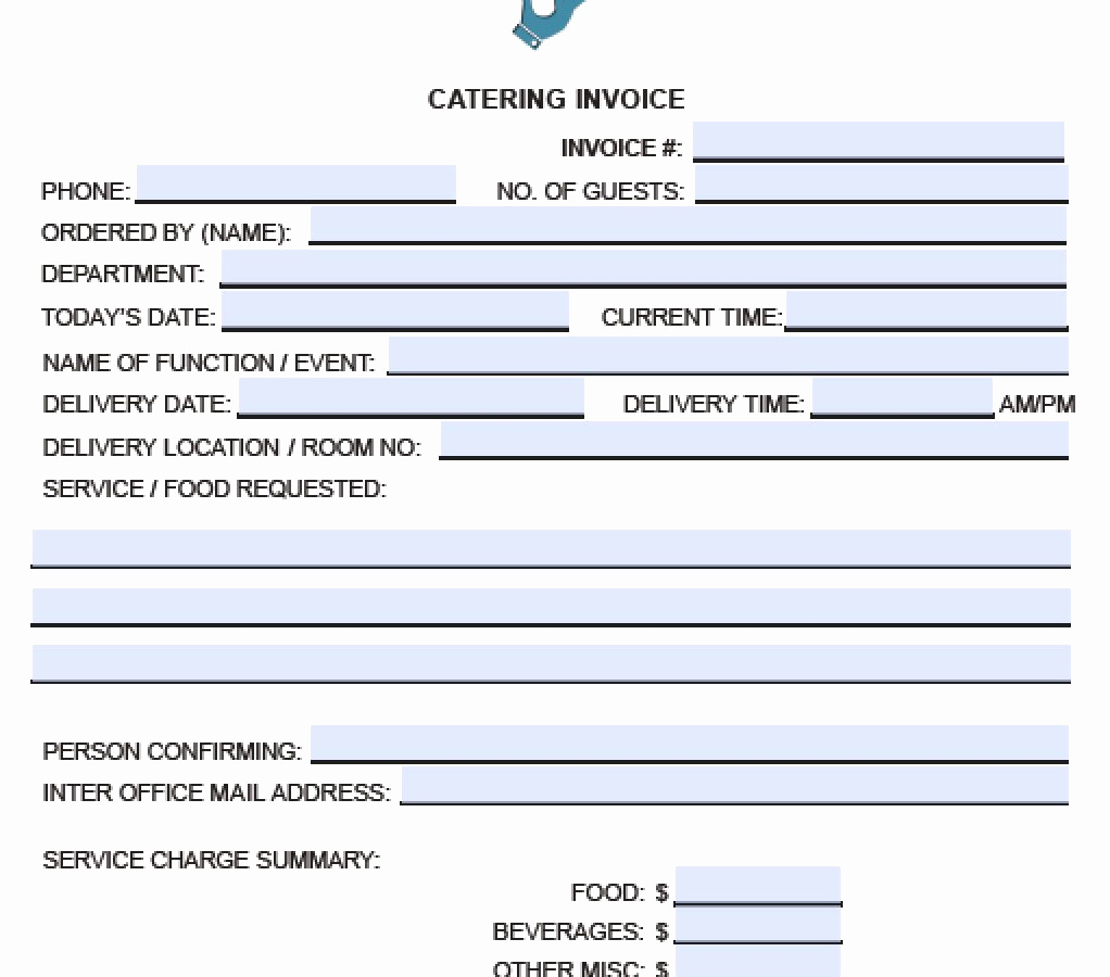 Shipper's Letter Of Instruction Template - 50 Best Graph Catering form Template Free