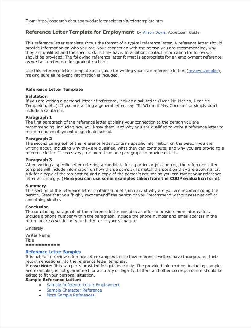 Job Reference Letter Template - 9 Employee Reference Letter Examples & Samples In Pdf Think Down