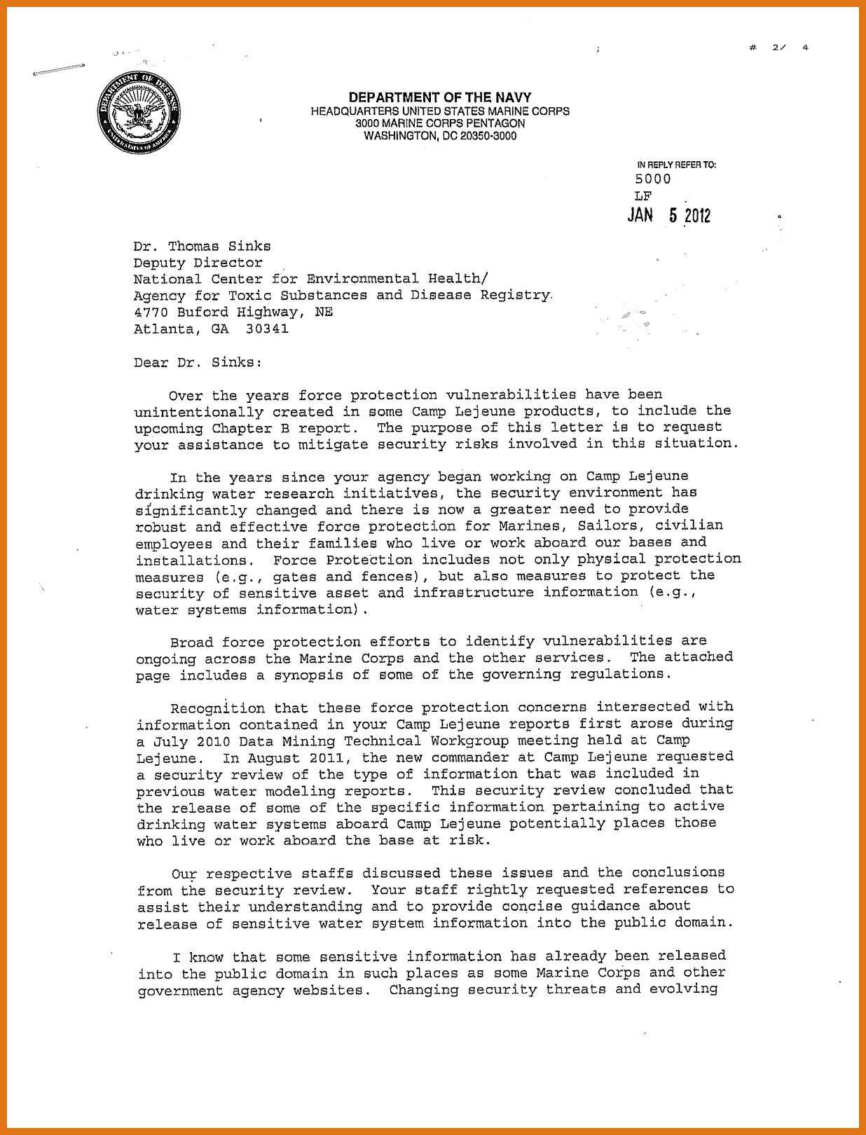 Naval Letter Format Usmc Template