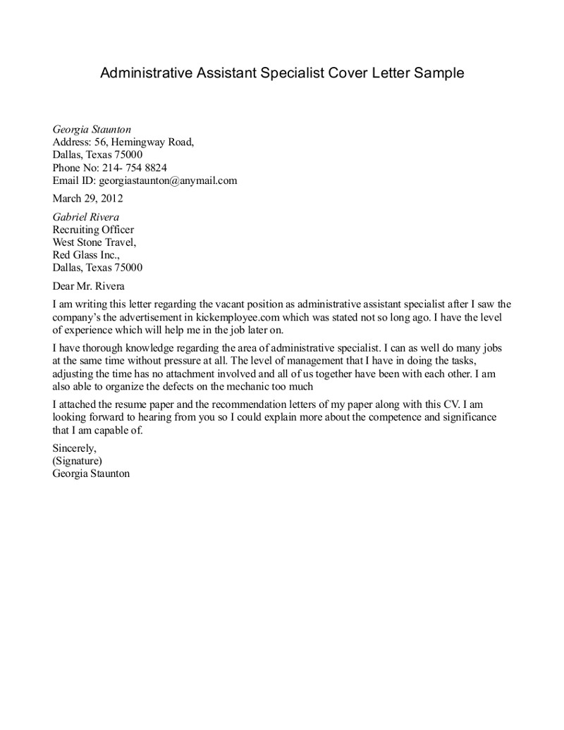 Executive assistant Cover Letter Template Collection | Letter ...