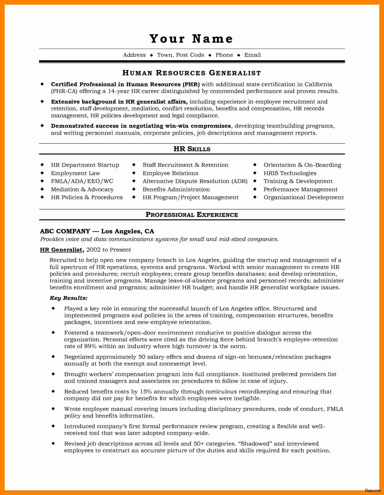 Disciplinary Letter Template - Administrative Resume Sample Unique Email Marketing Resume Sample