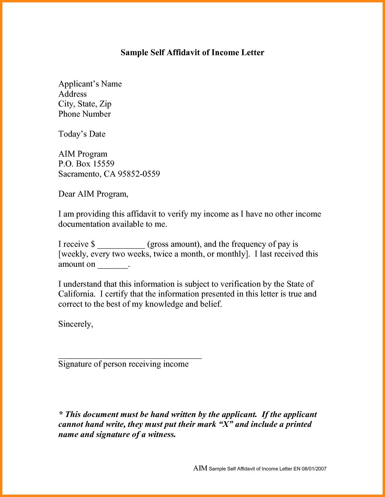Affidavit Letter Template - Affidavit Letter Sample Fresh Letter Affidavit Olalaopx for