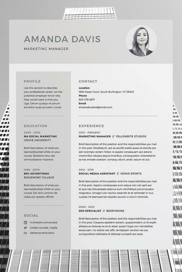 Indesign Letter Template - Amanda Resume Cv Template Word Shop