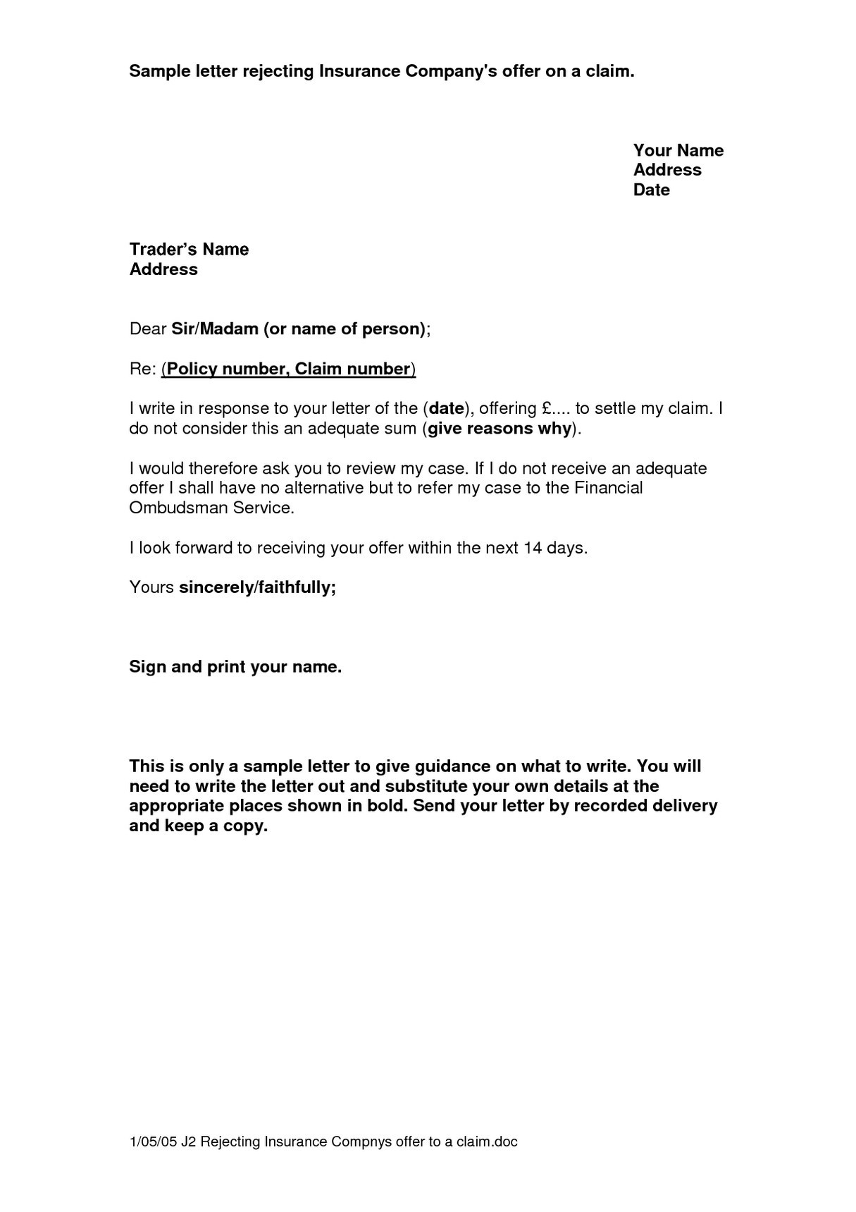 Insurance Demand Letter Template - Appeal Letter Template Medical New Gallery Title Insurance Claim