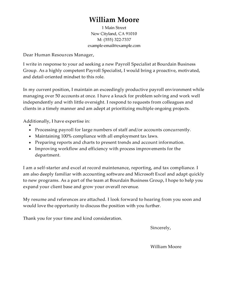 Apple Cover Letter Template
