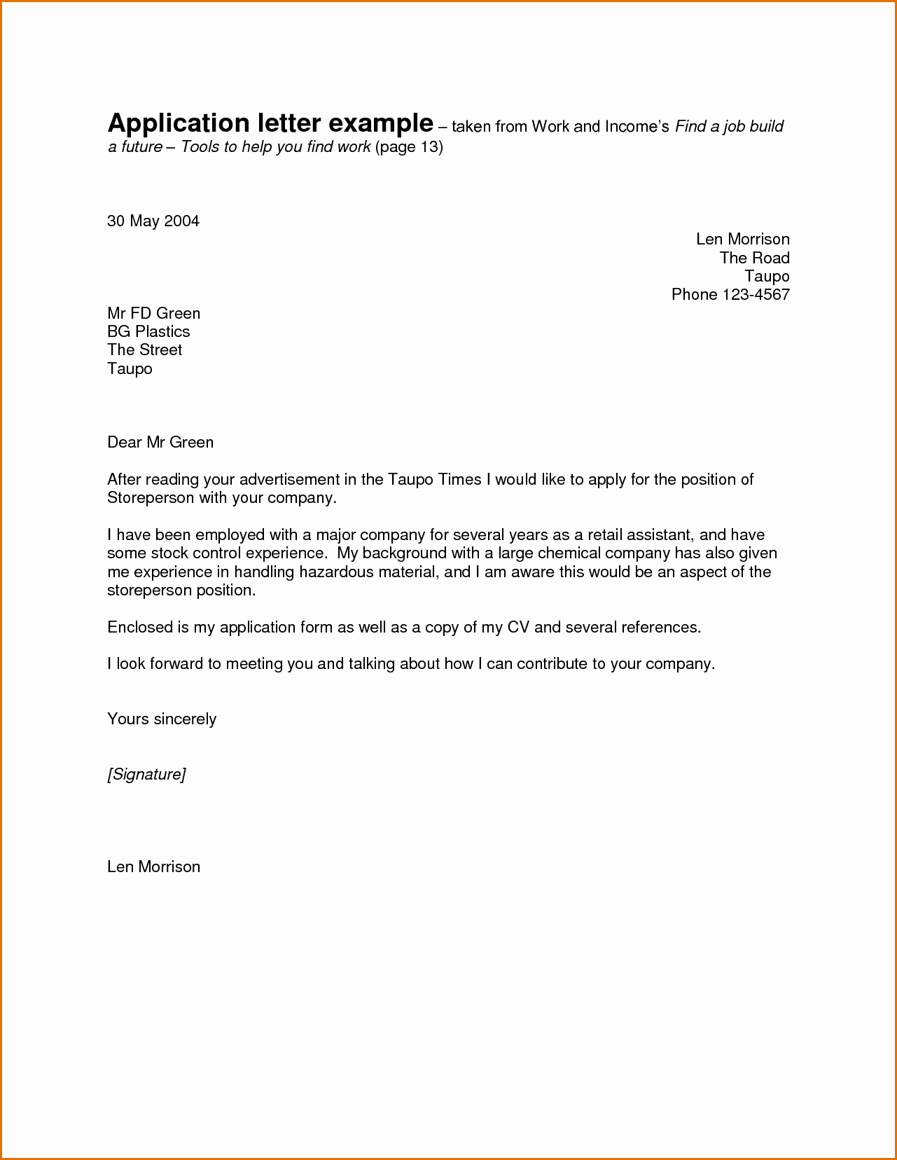Cover Letter Template for Promotion Collection