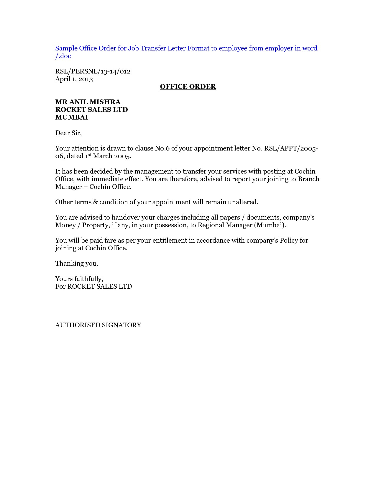 Transfer Letter Template Collection Letter Template Collection